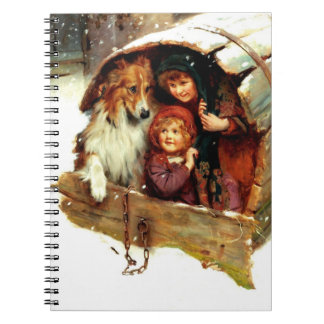 Vintage Art Christmas Gift Notebooks