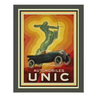 Vintage Art Deco Ad for Unic Automobiles 16 x 20 Poster