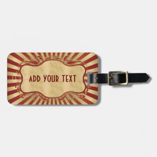 Vintage,art deco,burgundy,gold,nouveau,chic,girly luggage tag