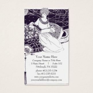 Vintage Art Deco Business Card
