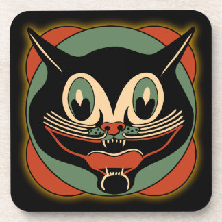 Vintage Art Deco Cat - Set of 6 Coasters