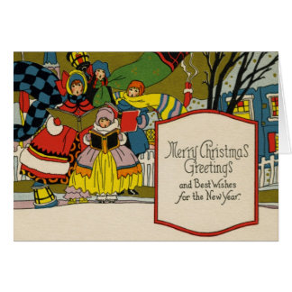 Vintage Art Deco Christmas Card