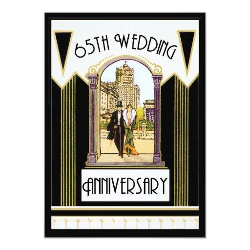 "Vintage Art Deco Couple 65th Wedding Anniversary 5"" X 7"