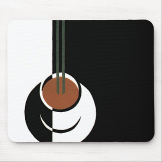 Vintage Art Deco Cup of Coffee with Steam Mouse Pads