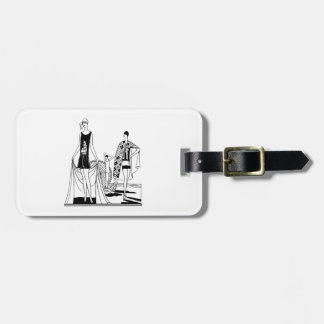Vintage Art Deco Fashionable Ladies at the Beach Luggage Tag