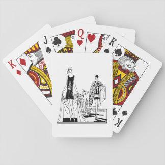 Vintage Art Deco Fashionable Ladies at the Beach Poker Deck