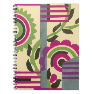 Vintage Art Deco Fine Art Geometric Abstract Spiral Note Books