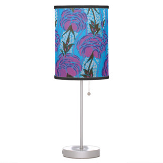 Vintage Art Deco Floral Nature Insect Lamp