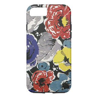 Vintage Art Deco Flowers, Roses Floral Pattern iPhone 7 Case