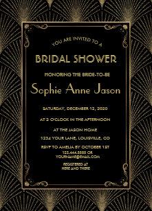 Bridal shower invitations announcements zazzle ca vintage art deco great gatsby bridal shower invite filmwisefo