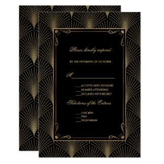 Vintage Art Deco Great Gatsby Wedding Card