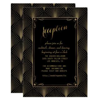 Vintage Art Deco Great Gatsby Wedding Reception Card