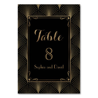 Vintage Art Deco Great Gatsby Wedding TABLE NUMBER Table Card