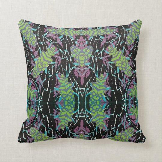 Vintage Art Deco Jazz Pochoir Beetles in Garden Throw Pillow