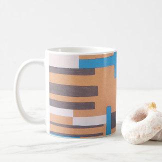 Vintage Art Deco Jazz Pochoir, Geometric Pattern Coffee Mug