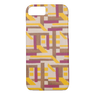 Vintage Art Deco Jazz Pochoir Geometric Pattern iPhone 7 Case