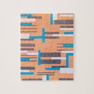 Vintage Art Deco Jazz Pochoir, Geometric Pattern Jigsaw Puzzle