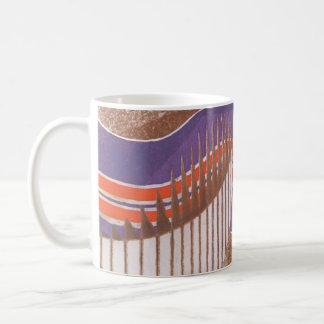 Vintage Art Deco Jazz Pochoir Stair Step Pattern Coffee Mug