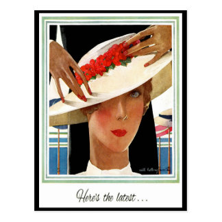 VINTAGE ART DECO KEEPING IN TOUCH POSTCARD