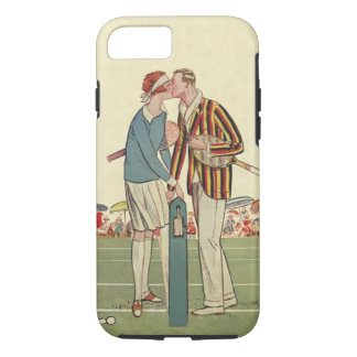 Vintage Art Deco Love and Romance Tennis Newlyweds iPhone 7 Case