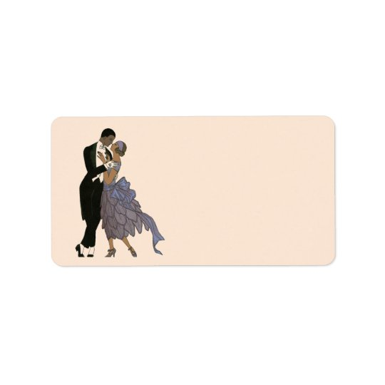 Vintage Art Deco Newlyweds, Bride and Groom Dance