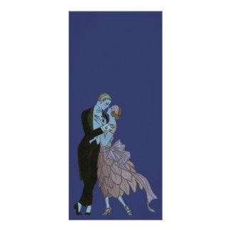 Vintage Art Deco, Newlyweds Love Wedding Dance Rack Cards