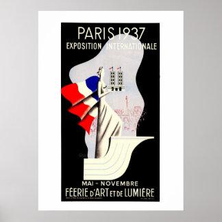 Vintage art deco Paris World expo 1937 53 x 73 Poster