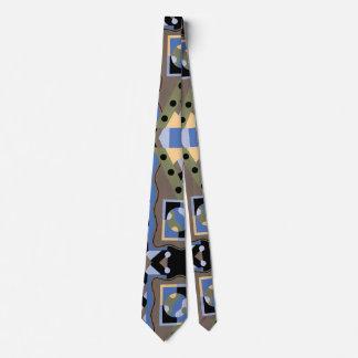 Vintage Art Deco Pochoir Jazz Cubism Pattern Tie