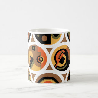 Vintage Art Deco Pochoir Jazz Geometric Circles Coffee Mug