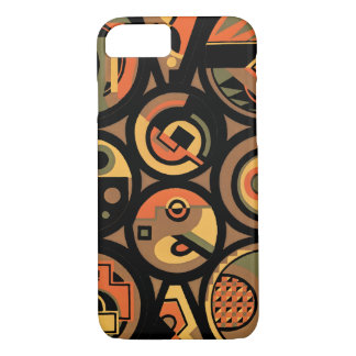 Vintage Art Deco Pochoir Jazz Geometric Circles iPhone 8/7 Case