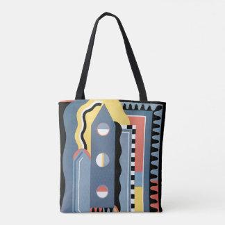 Vintage Art Deco Pochoir Jazz Geometric Patterns Tote Bag