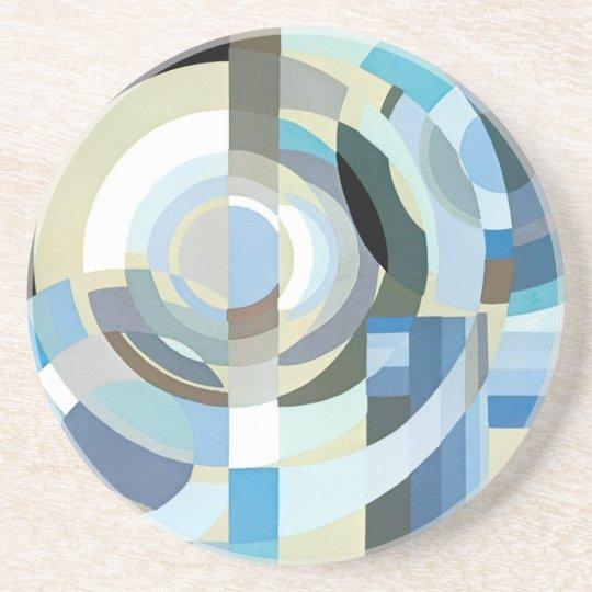 Vintage Art Deco Pochoir Jazz Geometric Shapes Coaster