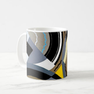 Vintage Art Deco Pochoir Jazz Geometric Shapes Coffee Mug