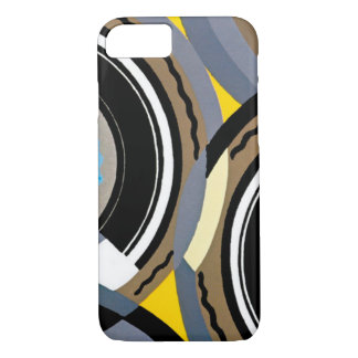 Vintage Art Deco Pochoir Jazz Geometric Shapes iPhone 7 Case