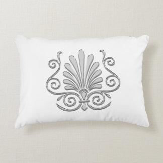 Vintage Art Deco Silver Plume Arabesque Accent Pillow