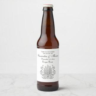 Vintage Art Deco Silver Plume Arabesque Beer Bottle Label