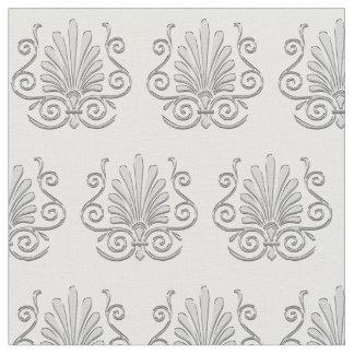 Vintage Art Deco Silver Plume Arabesque Fabric