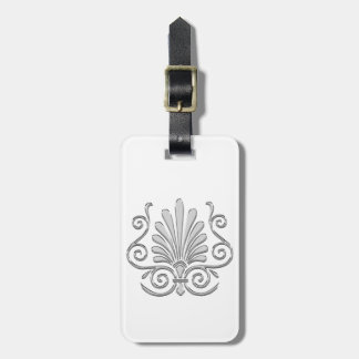 Vintage Art Deco Silver Plume Arabesque Luggage Tag