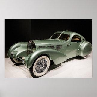 Vintage Art Deco Style 1935 Aérolithe Concept Car Poster