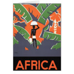 Vintage Art Deco Travel Poster, African Jungle