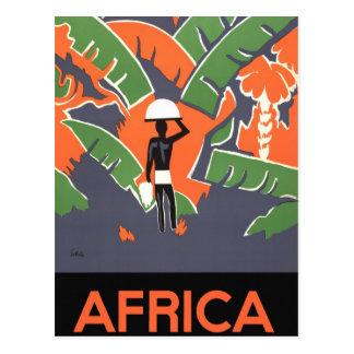 Vintage Art Deco Travel Poster, African Jungle Postcard
