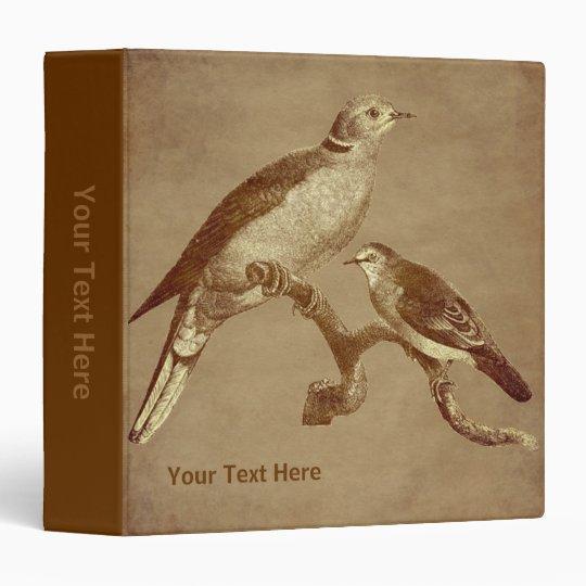 Vintage Art Doves On Branch Nature Vinyl Binder