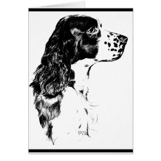 Vintage Art English Springer Spaniel Dog Card