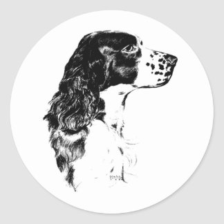 Vintage Art English Springer Spaniel Dog Sticker