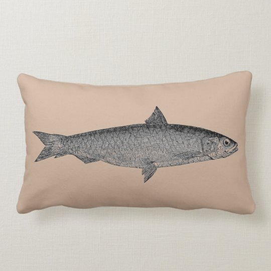 Vintage Art Fish Pillow