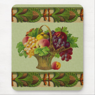Vintage Art Fruit Basket Mousepad
