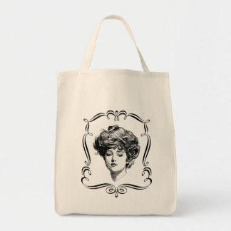 Vintage Art Gibson Girl Tote Bag