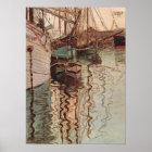 Vintage Art, Harbour of Trieste by Egon Schiele Poster