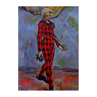 Vintage Art - Harlequin by Paul Cezanne