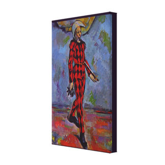 Vintage Art - Harlequin by Paul Cezanne Canvas Print